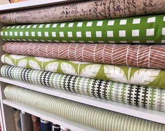 Fabric Bundle - Quilter's Fabric Bundle - Greens and Browns - Various Artists
