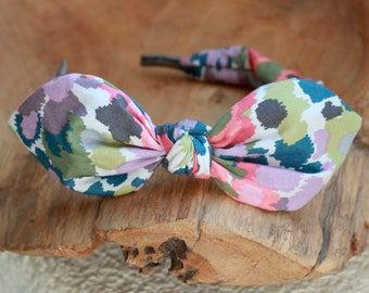 Headband for Women, Abstract Floral Bow Headband Floral Print Hair Accessory Womens Floral Pattern Headband Fabric Headband Scarf Headband