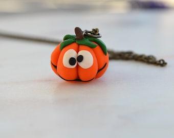 Handmade pumpkin jewellery, Fall jewellery, Funny pumpkin, Halloween jewellery, Halloween pumpkin, Halloween party gift,