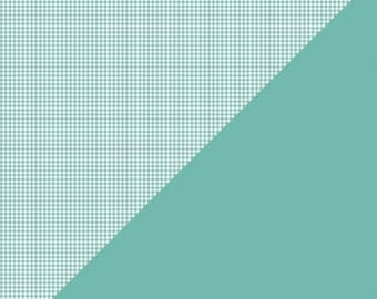 WOWZA Authentique  Patterned Card Stock Light Teal Check, 2 pcs.