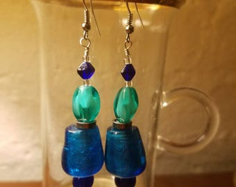 Cerulean Curve Earrings