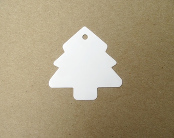 Christmas Tree Gift Tag, Blank Gift Tags, White Paper Tags, Christmas Blank Tags, Xmas Tree Tags, Tree Price Tags, Christmas Gift Tags