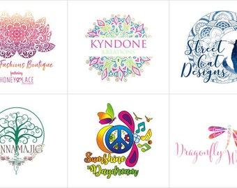 Yoga Logo, Mandala Logo, Bohemian Logo, Logo Design, Custom Logo Design, Unique Logo Concept, Ooak Logo, You own the Ownership, 3 Concepts