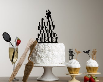 The Great Gatsby Cake Topper Set - Themed Party Set - 1920 Style Table Decorations - Great Gatsby Themed Party - 20's Themed Cake Decor