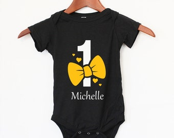 First Birthday Personalized Name - 1st Birthday Baby Bodysuit