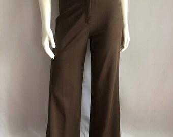 Vintage Women's 70's Jantzen, Disco Pants, High Waisted, Straight Leg (S)