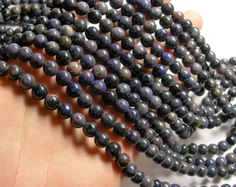Purple Dumortierite - 8 mm round beads -1 full strand - 50 beads - RFG1006