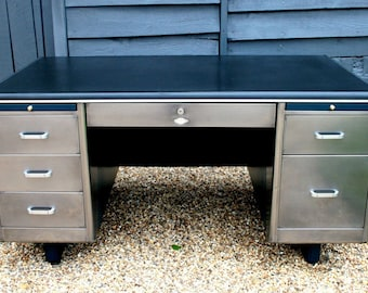 metal office tables. 1950\u0027s Polished Steel Engineers Desk Bespoke Colour Schemes Available Metal Office Tables E