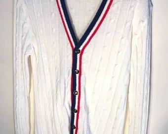 Vintage cable knit cricket cardigan
