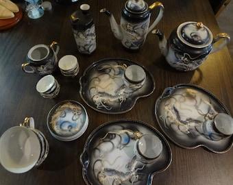 Antique Soko China. Dragon Tea set (19 pc)