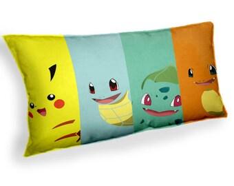 Pokemon  Pikachu Squirtle Charamander bulbasaur- Custom Geek Fabric Cushion Pillow cover Home Decor Thrown Pillow With Inner