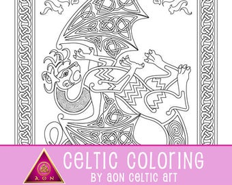 Dragon Fire - coloring page