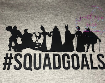 Villains  Squad Goals Disney Shirt