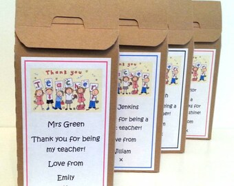 Cookie Mix - 'Thank You Teacher' Chocolate Chip Cookie Mix with personalised message