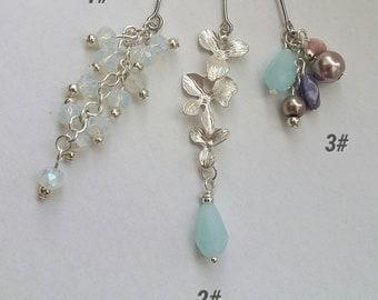 craftoholictamina Sale - Eid/Ramadhan/Ramadan Gift - Orchid Dangly Hijab Pin - Brooch/Hat/Stick/Stock Pin