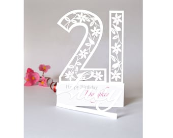 21st birthday card etsy personalised 3d paper cut 21st birthday card for daughtergranddaughterniecegoddaughter bookmarktalkfo Choice Image