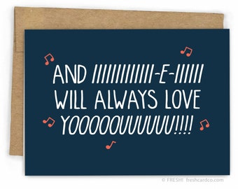 Funny Love Card  | Funny Valentines Card | Whitney Houston Always Love YOOUUU! by Fresh!