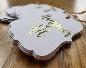 10x Gold Foil Hangover Tags