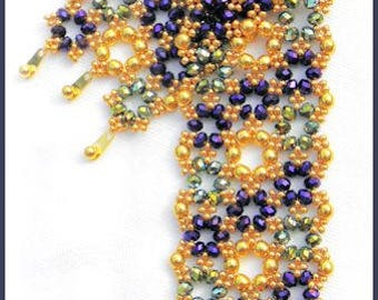 Beading Tutorial - Crystal Rondelle bracelet - Netting stitch