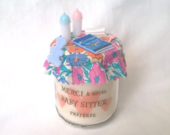 Thanks to our Baby Sitter candle, personalized gift bag