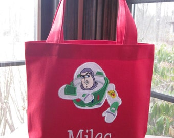 TOTE BAG Buzz Lightyear Personalized Toddler or Big Kid Tote