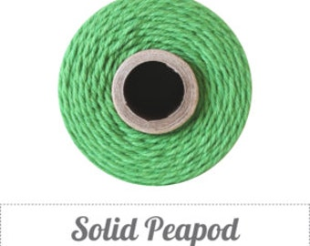 10 yards/ 9.144 m Solid Peapod Green Bakers Twine, Spring Green, Christmas Green Twine