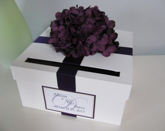 Eggplant card box   Etsy