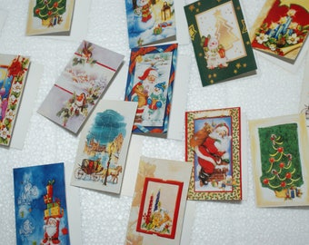 9 Vintage Christmas gift Gift greetings cards business cards Cards pieces Parcel-Vintage Christmas Gift Tags
