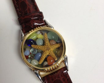 Repurposed Upcycled/Recycled Beach Watch Bracelet W3