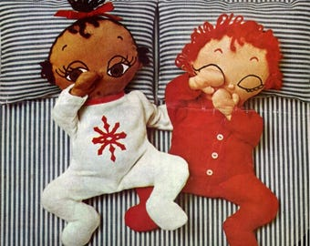 Sewing Pattern - Sleepy Babies - Vintage Pattern download PDF - Cloth Dolls