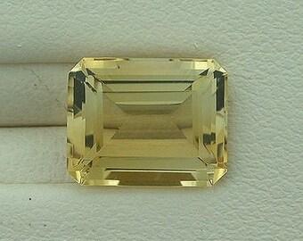 10x8 emerald cut citrine gem stone gemstone natural