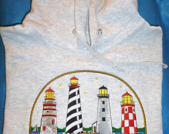 Embroidered Lighthouse Hoodie