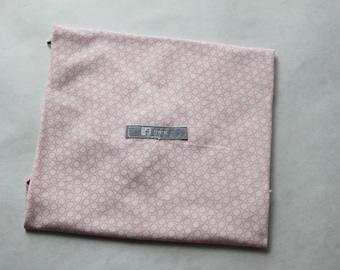 Pink cotton reusable sandwich bag