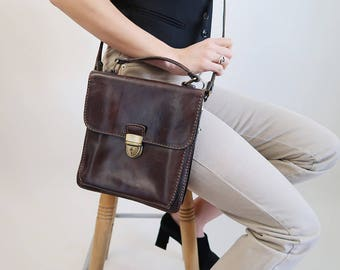 Vintage Brown Leather Aldo Cross Body Bag