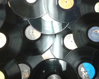 """Qty of 50 33 rpm vinyl 12"""" albums for crafting"""