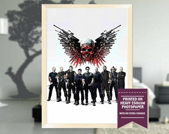 The Expendables, fanart, expendables movie, expendables poster, expendables print, best posters, cool art, Christmas gift