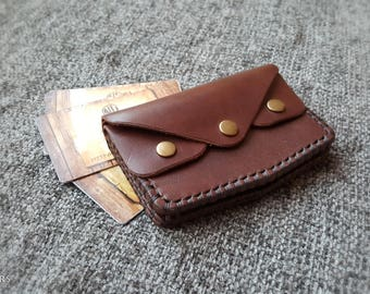 Minimalist Wallet, Modern Leather Wallet, Bifold Cardholder, Mens Leather Wallet, Personalized Wallet, Rustic Style,  Rustic cardholder