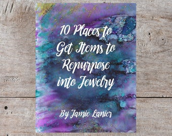 Digital EBook, Upcycling Ideas, DIY Jewelry, Upcycle, Repurpose, Recycling Ideas, Upcycled Jewelry, Repurposed Jewelry, Repurposed Items