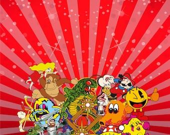 Mame Multicade Classics Arcade Cabinet Kick-plate Graphics Decals Stickers