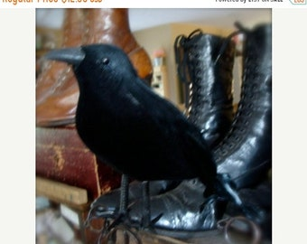 ONSALE Gothic Raven Black Bird One Large CrEepY Old Black Crow