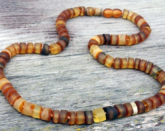 Genuine Natural Raw Baltic Amber Necklace For Adult Light Unpolished Beads