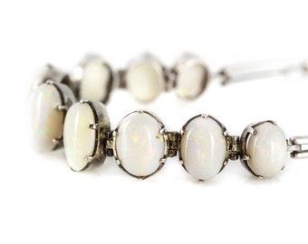 Art Deco Opal Bracelet 1930's // October Birthstone Jewellery //  Vintage Opal Bracelet // Bridal Jewellery Wedding Gift
