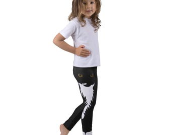 Kid's Cat leggings, Tuxedo Cat Gymnastic Pants, Kids Clothing, Dance Wear for Kids, Gift for Toddlers, Cat Lover, Cool Kitty Cat Creations