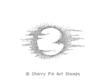 FULL MOON- CLiNG RuBBer STaMP for acrylic block by Cherry Pie E185