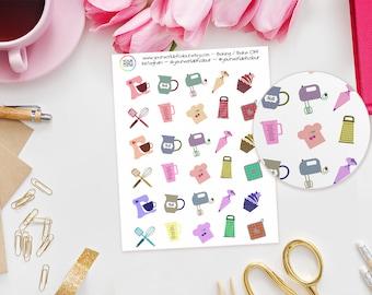 Baking / Bake Off Planner Stickers - perfect for Erin Condren, Kikki K, Happy Planner, Filofax Planner, cooking, kitchen