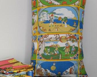 Vintage Four Seasons Tea Towel Cushion