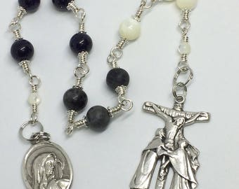 Holy Souls Decade Rosary Tenner Wire Wrapped with Sterling Silver Wire