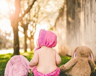 Infant Bonnet  and Pants set  Vintage linens-Newborn hat.  baby girl. infant photo prop. baby pantalets, Newborn photo-prop, vintage baby