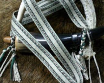 Tablet Woven Black Powder Horn Strap