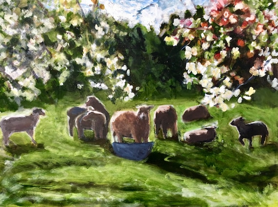 Sorry- this is sold: Sheep Meadow, Spring